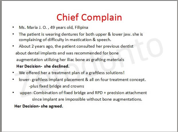 29- chief complain
